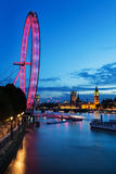 View of London Eye at night Royalty Free Stock Photography