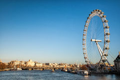 View of the London Eye and river Thames, London Stock Images