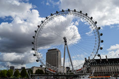 View of London Eye on river Themes and London Royalty Free Stock Image