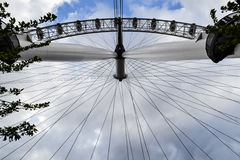 View from London Eye on river Themes and London Royalty Free Stock Photo