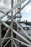 View from London Eye on river Themes and London Royalty Free Stock Image