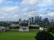 View of London from Greenwich Royalty Free Stock Photography