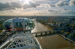 View of London from London Eye Royalty Free Stock Photos