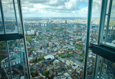 View of London. View from the 72nd floor of the Shard building . looking over the City of London Royalty Free Stock Photos