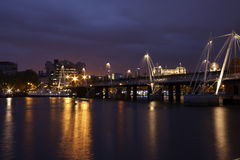 View of London at night Stock Image