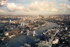 View of London skyline Stock Images