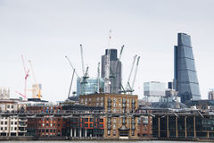 View on London skyline from the Thames river, London, UK Stock Photo