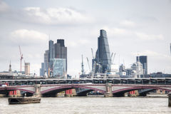View on London skyline from the Thames river, London, UK Royalty Free Stock Photography