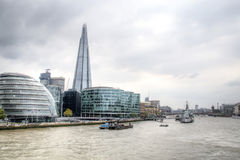 View on London skyline from the Thames river, London, UK Royalty Free Stock Image