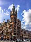 A view of London St Pancras International railway station, home of the Eurostar in London, England, UK stock images