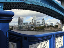 View of London from Tower Bridge, England Royalty Free Stock Images
