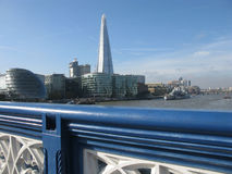 View of London from Tower Bridge, England Stock Photography