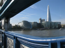 View of London from Tower Bridge, England Royalty Free Stock Photos