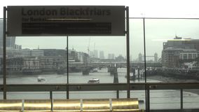 View of London from Train Window, England, UK. Winter stock footage