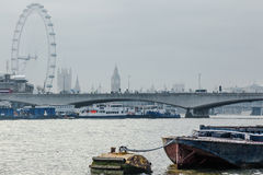 A view from Victoria Embankment Royalty Free Stock Images