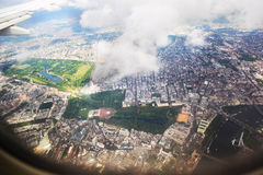 View London from the window of an airplane Stock Photos