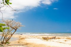 Lonely beach by palomino in Colombia Stock Photos