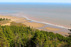 View of Long Beach on Fundy trail Stock Image