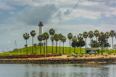 View of Long Beach Harbor Lighthouse  Stock Images