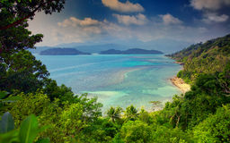 View from Long Beach, Ko Chang island, Thailand Stock Photography