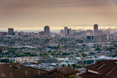 View of the Long Beach skyline from Hilltop Park  Stock Images