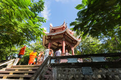 View of the Long Son Pagoda stock photography