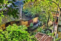 View of the Long Son Pagoda. NHA TRANG, VIETNAM - Nov 2014: View of the Long Son Pagoda royalty free stock images