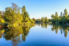 View of The Long Water in Hyde Park. London Royalty Free Stock Images