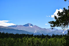 View of Longs Peak from Beaver Meadows Royalty Free Stock Image