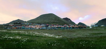 View of of Longyearbyen, Spitsbergen (Svalbard) Royalty Free Stock Photos