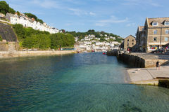 View of Looe river and harbour Cornwall England Royalty Free Stock Photos