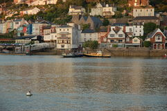 A view looking across The River Dart estuary at sunset. Stock Photography