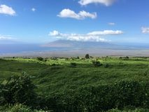 View looking down at central, Maui. Royalty Free Stock Photography