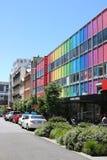 Colorful buildings, Cuba Street, Wellington, NZ royalty free stock image