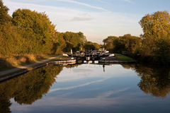View looking down Hatton Flight of locks royalty free stock photos