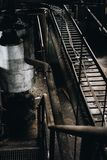 Steel Staircase - Abandoned Power Plant - New York stock photo