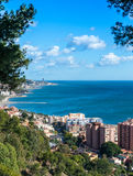View looking East from Malaga Harbor Stock Photos
