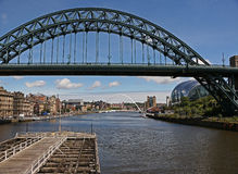 View looking east up the Tyne. Royalty Free Stock Photo