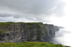 View Looking South over The Cliffs of Moher in County Clare, Ireland. The View Looking South over The Cliffs of Moher in County Clare, Ireland Stock Image