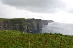 View Looking South over The Cliffs of Moher in County Clare, Ireland. The View Looking South over The Cliffs of Moher in County Clare, Ireland Royalty Free Stock Image