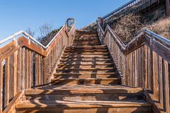 Free View Looking Up Of Stairway At South Carlsbad State Beach Stock Photos - 111891083