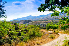 View looking west of Cadiar Village Stock Images