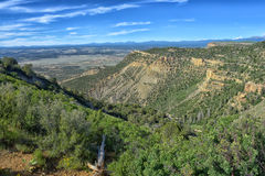 The view from Lookout Point at Mesa Verde. National Park Royalty Free Stock Photography