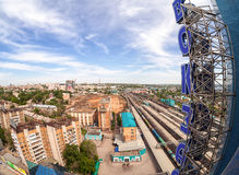View from the lookout of Samara Rail Terminal Stock Image