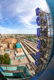 View from the lookout of Samara Rail Terminal Stock Photography
