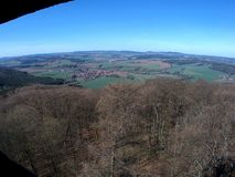 View from the tower. View from the lookout to the Czech landscape stock photo