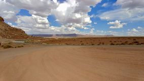 View of Arizona Landscape from Vermillion Cliffs along Highway 89A. This view looks out towards the horizon in the direction of Glen and Grand Canyon, along Stock Photography