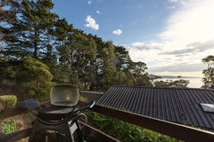View of Lorne beach from a bbq deck Stock Photography