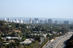 View of Los Angeles. CA from the Getty Center Stock Photography