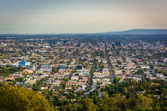 View of Los Angeles from Griffith Observatory, in Los Angeles, C Royalty Free Stock Images